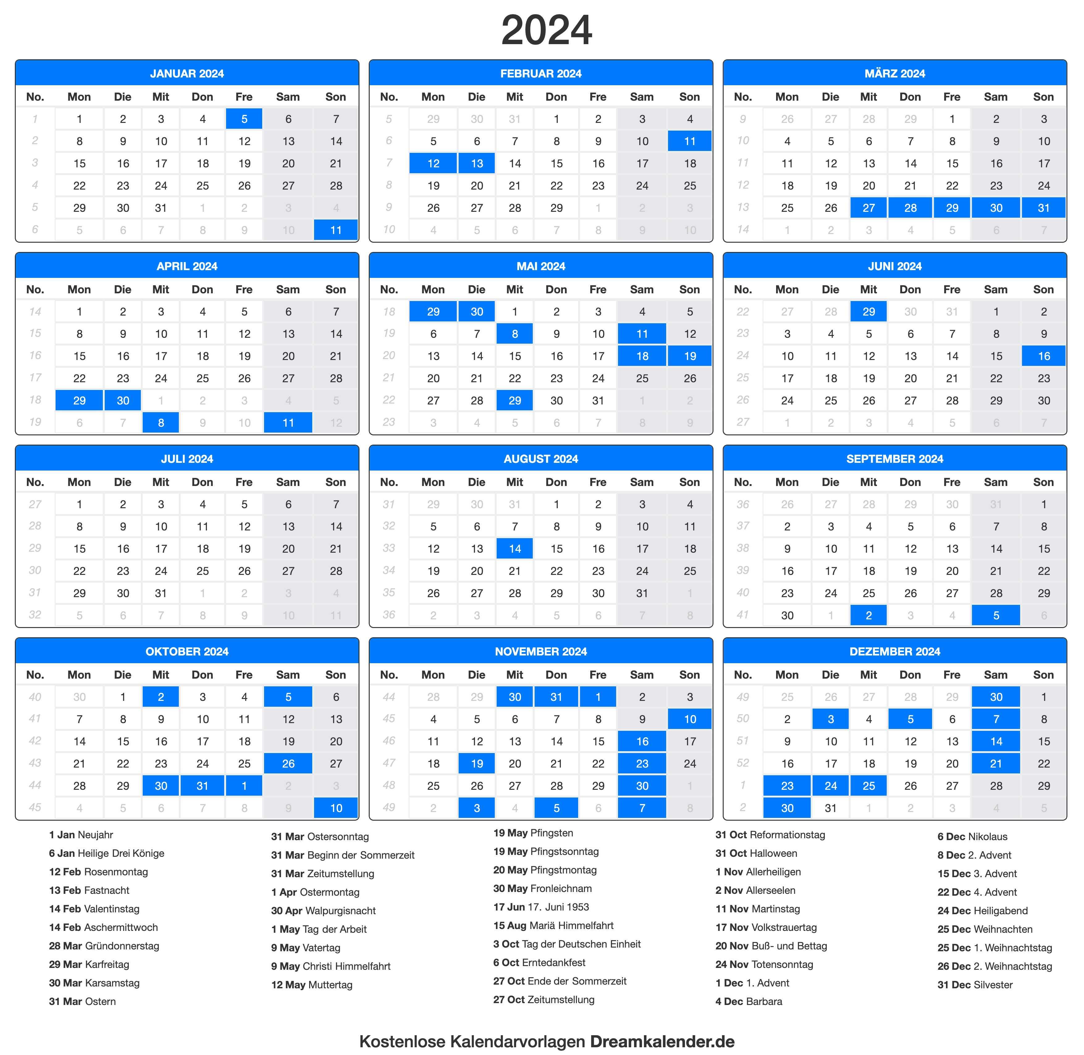 2019 Kalender Deutschland   Calendars 2021